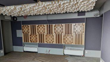 ADS Acoustic Design System Regierückwand im Bau