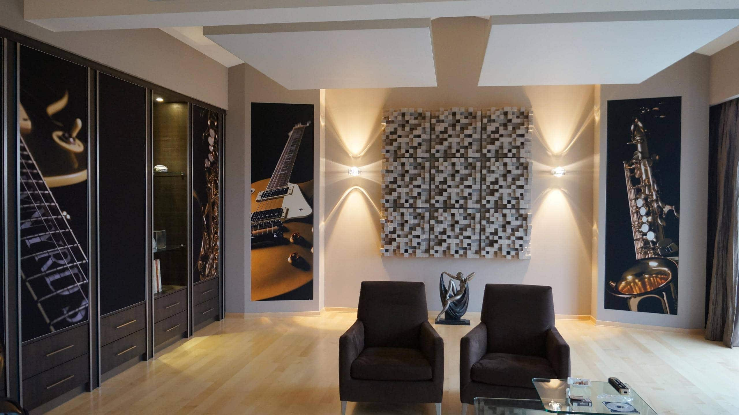 Listening room with acoustic cabinet wall mbakustik i for Room design 2d
