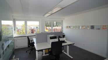 GS Electronic Büroraum mit A705 Deckenabsorbern