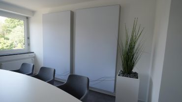 GS Electronic Büroraum mit A714 Wandabsorbern
