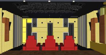Frontwand mit vier Subwoofern im Entwurf | HAG Fairland Custom Reference
