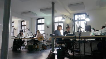 Deckenabsorber A100 im Mehrpersonen-Büro Kuhl|Frenzel, Osnabrück